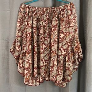 🧡3 FOR $75🧡 Strapless Paisley Blouse